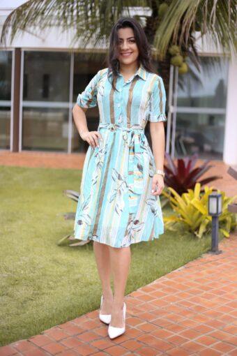 Vestido Floral Vitória em Áquila Tauheny Store | Moda Evangélica
