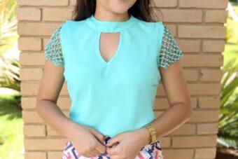 Blusa Verde Esmeralda em Áquila Tauheny Store | Moda Evangélica