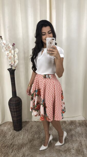 Saia Godê Tereza em Áquila Tauheny Store | Moda Evangélica