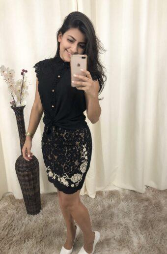 Saia Renda em Áquila Tauheny Store | Moda Evangélica