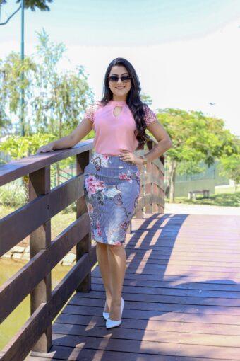 Saia Secretária Amanda em Áquila Tauheny Store | Moda Evangélica