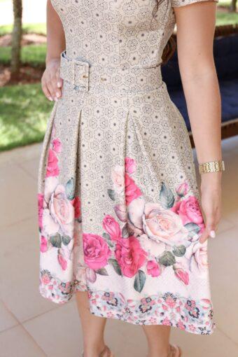 Vestido Floral Dayane - Aquila Tauheny Store