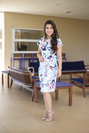 Vestido Floral Larissa em Áquila Tauheny Store | Moda Evangélica
