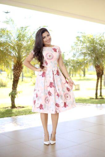 Vestido Floral Thaissa - Aquila Tauheny Store