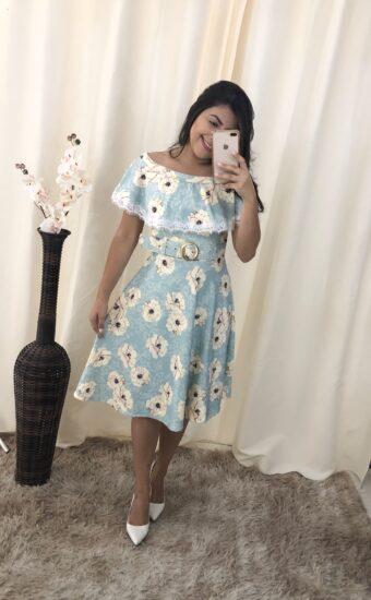 Vestido Godê Luana em Áquila Tauheny Store | Moda Evangélica