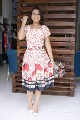 Vestido Godê Nicole em Áquila Tauheny Store | Moda Evangélica