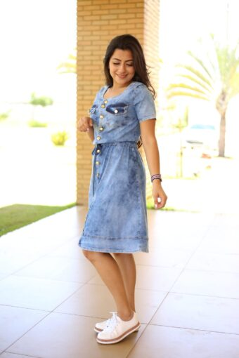 Vestido Jeans Joseane - Aquila Tauheny Store