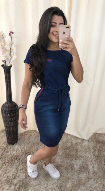 Vestido Jeans Marina em Áquila Tauheny Store | Moda Evangélica