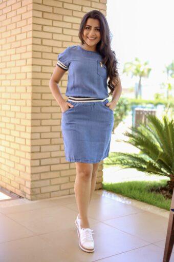 Vestido Jeans Nítido Amanda - Aquila Tauheny Stor