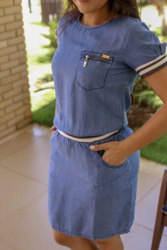 Vestido Jeans Nítido Amanda - Aquila Tauheny Store