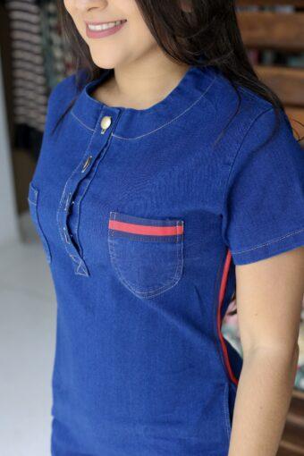 Vestido Jeans Rebecca em Áquila Tauheny Store | Moda Evangélica
