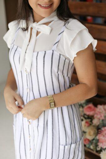 Vestido Linho Vanessa em Áquila Tauheny Store   Moda Evangélica