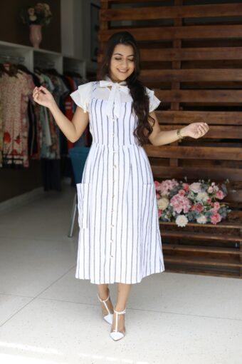 Vestido Linho Vanessa em Áquila Tauheny Store | Moda Evangélica