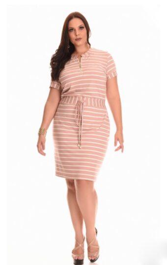 Vestido Nítido Rosê em Áquila Tauheny Store   Moda Evangélica