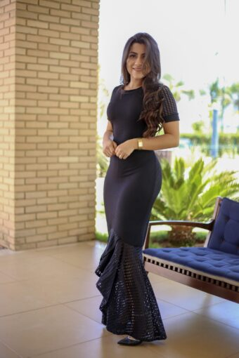 Vestido Preto Longo Giulia - Áquila Tauheny Store