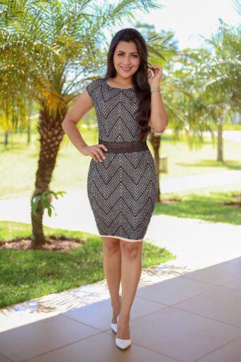 Vestido Tricot Eliamara em Áquila Tauheny Store   Moda Evangélica