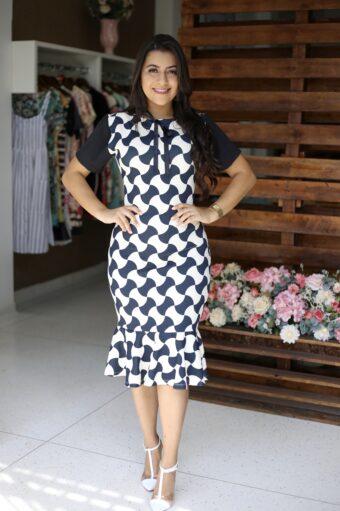Vestido Tubinho Cecília em Áquila Tauheny Store | Moda Evangélica