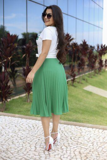 Saia Plissada Joana em Áquila Tauheny Store | Moda Evangélica