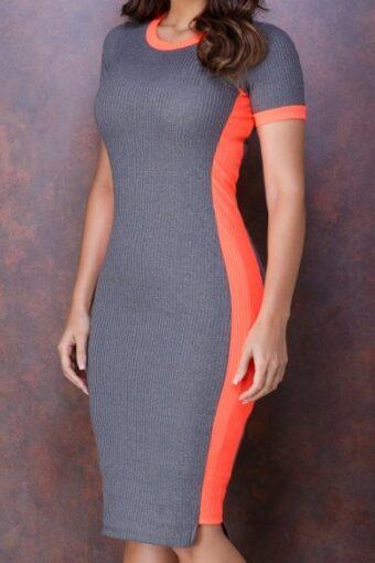Vestido Tubinho Faixa Neon - Tatá Martello em Áquila Tauheny Store | Moda Evangélica