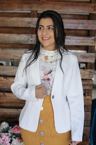 Blazer White em Áquila Tauheny Store   Moda Evangélica