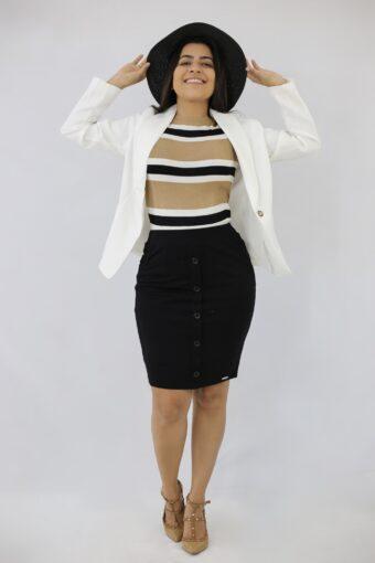 Blazer White em Áquila Tauheny Store | Moda Evangélica