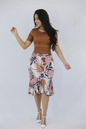 Blusa Camurça Marrom em Áquila Tauheny Store | Moda Evangélica