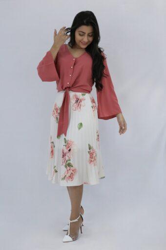 Blusa Coral Amarração em Áquila Tauheny Store | Moda Evangélica