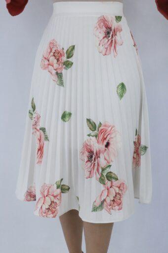 Saia Midi Floral em Áquila Tauheny Store | Moda Evangélica