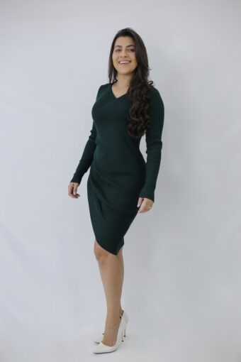 Vestido Tricot Esmeralda em Áquila Tauheny Store | Moda Evangélica
