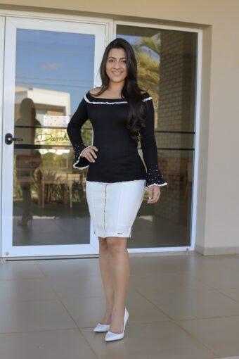 Blusa Tricot Preta em Áquila Tauheny Store | Moda Evangélica