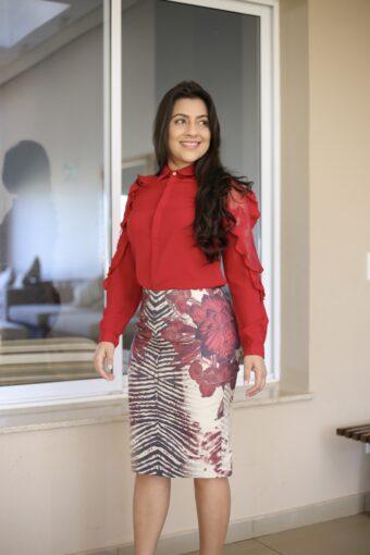 Blusa Vermelha Babadinho em Áquila Tauheny Store | Moda Evangélica