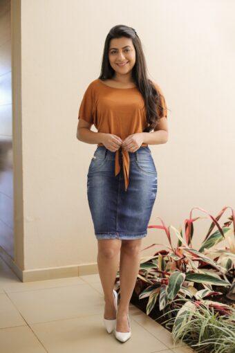 Saia Jeans em Áquila Tauheny Store | Moda Evangélica