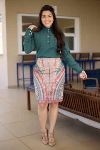 Saia Secretária Titanium em Áquila Tauheny Store | Moda Evangélica