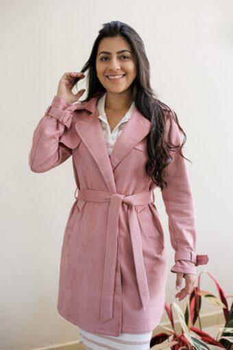 Sobretudo Rose em Áquila Tauheny Store   Moda Evangélica