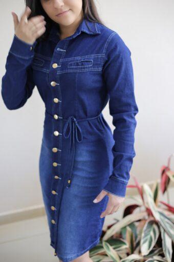 Vestido Jeans Manga Longa em Áquila Tauheny Store | Moda Evangélica