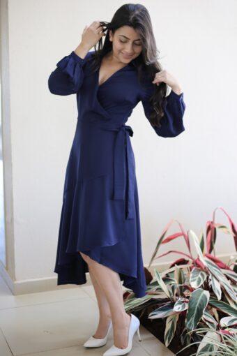 Vestido Mullet Azul em Áquila Tauheny Store | Moda Evangélica