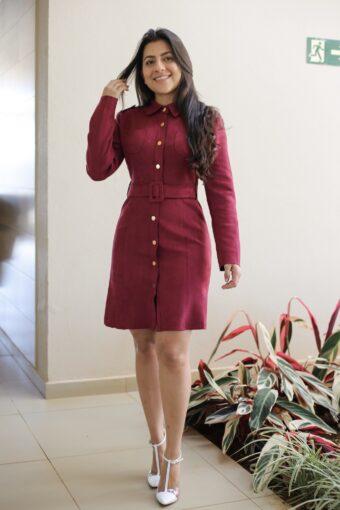 Vestido Suede Purple em Áquila Tauheny Store | Moda Evangélica