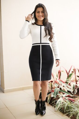 Vestido Tricot Preto Listra em Áquila Tauheny Store | Moda Evangélica