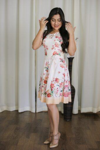 Vestido Godê Floral Jany Pim em Áquila Tauheny Store   Moda Evangélica