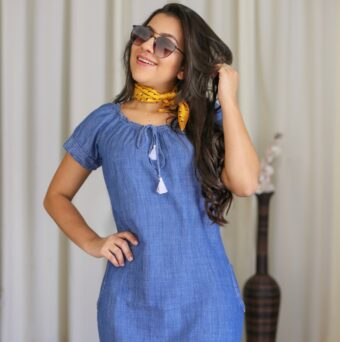 Vestido Jeans Hadaza em Áquila Tauheny Store   Moda Evangélica
