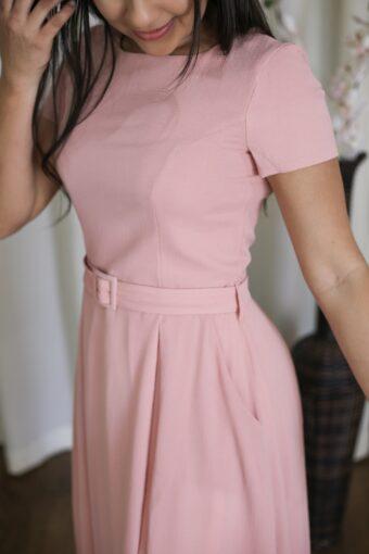 Vestido Midi Pregas Jany Pim em Áquila Tauheny Store | Moda Evangélica