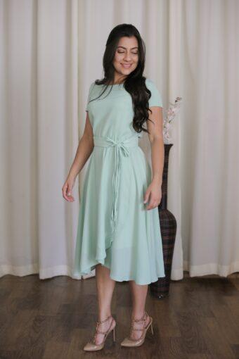 Vestido Mint Jany Pim em Áquila Tauheny Store   Moda Evangélica