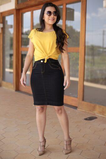 Blusa Viscose Amarela em Áquila Tauheny Store | Moda Evangélica