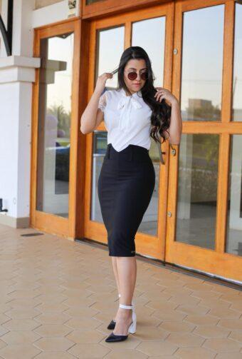 Conjunto Secretária em Áquila Tauheny Store   Moda Evangélica 2019