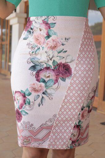 Saia Floral Jany Pim em Áquila Tauheny Store   Moda Evangélica