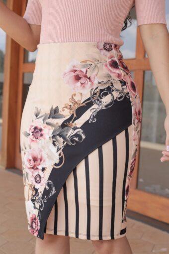 Saia Floral Listrada Jany Pim em Áquila Tauheny Store | Moda Evangélica