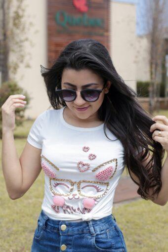 T-shirt Bordada em Áquila Tauheny Store | Moda Evangélica 2019