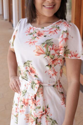 Vestido Floral Jany Pim em Áquila Tauheny Store | Moda Evangélica