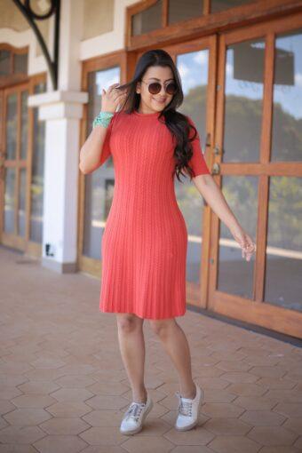 Vestido Tricot Coral em Áquila Tauheny Store | Moda Evangélica