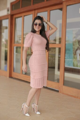 Vestido Tricot Renda em Áquila Tauheny Store | Moda Evangélica